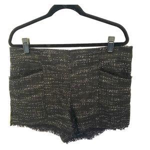 Cropped bouclé shorts